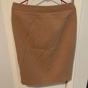 Ann Taylor Camel Pencil Skirt